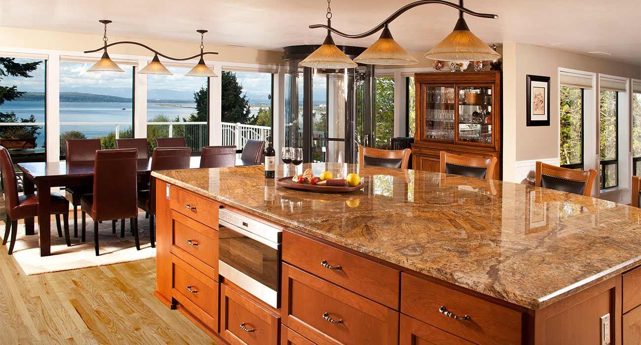 mukilteoeverett kitchen remodel large granite island custom cabinets - Eo Kitchen